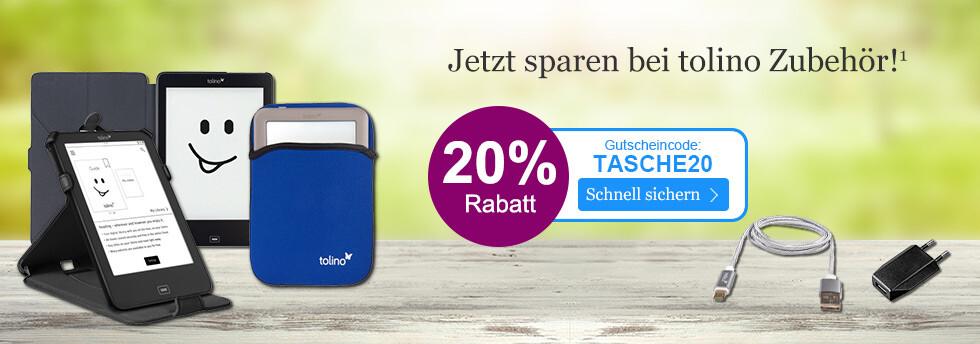 Ihr Ostergutschein: Jetzt 20% sparen bei tolino Zubehör bei eBook.de