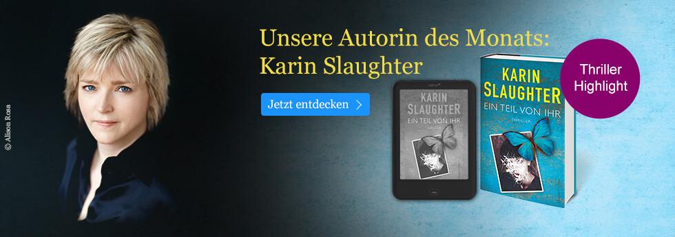 Unsere Autorin des Monats bei eBook.de: Karin Slaughter