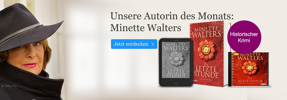 Unsere Autorin des Monats: Minette Walters