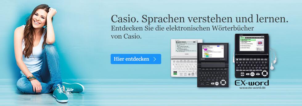 Sprachen verstehen und lernen mit den Wörterbühern von Casio