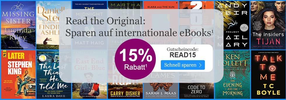 15% sparen auf internationale eBooks