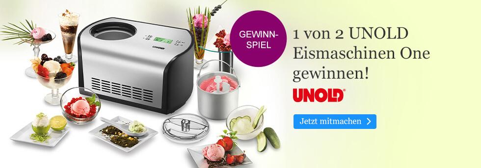 Gewinnen Sie eine Unold Eismaschine bei eBook.de