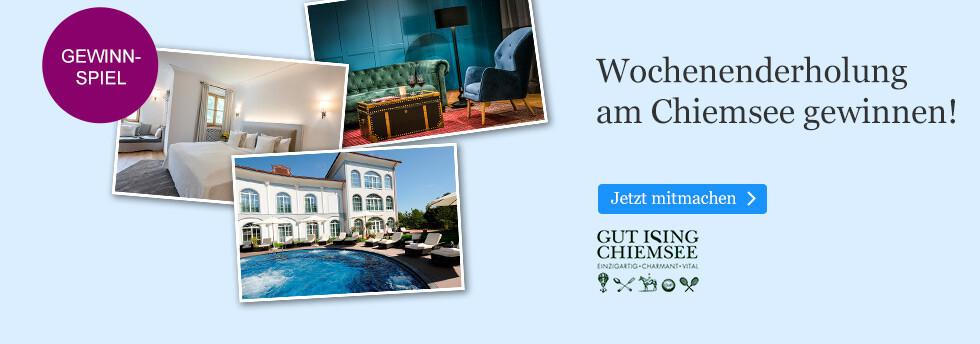 Gewinnen Sie ein Traumwochenende im Hotel Gut Ising am Chiemsee bei eBook.de
