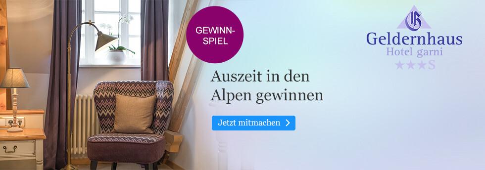 Gewinnen Sie eine Auszeit im Hotel Geldernhaus in den Alpen bei eBook.de