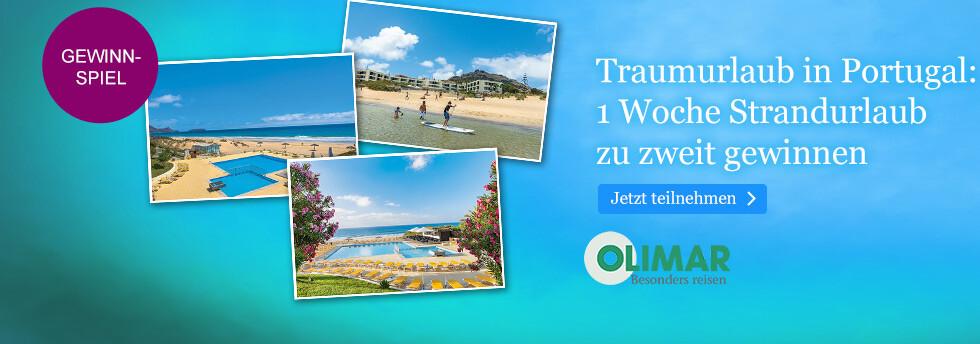 Gewinnen Sie einen Traumurlaub in Portugal mit Olimar bei eBook.de