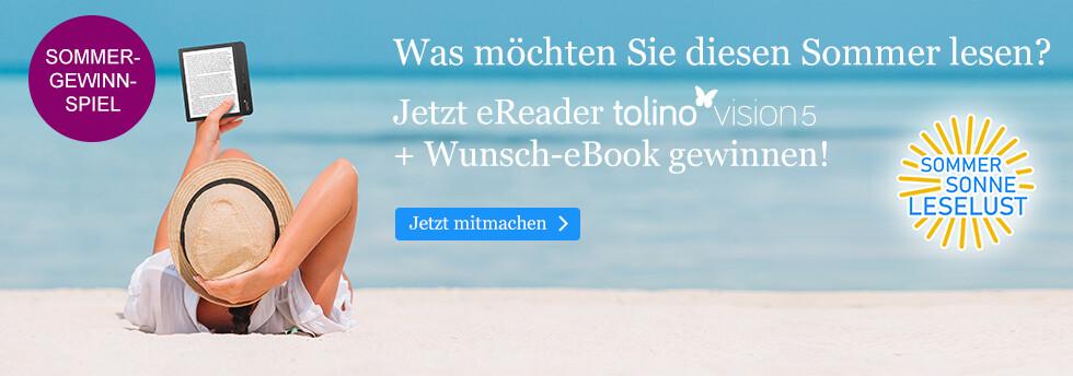 Gewinnen Sie einen tolino vision 5 und Ihr Wunsch eBook bei eBook.de