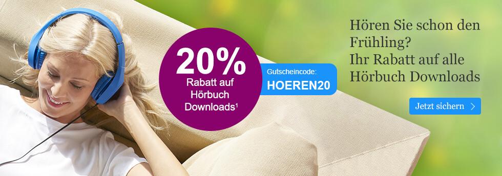 Jetzt 20% auf alle Hörbuch Downloads sparen - bei eBook.de