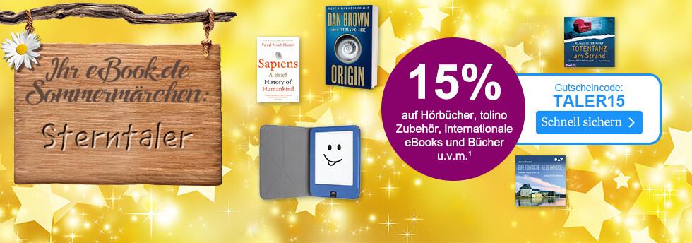Sterntaler: 15% auf Hörbücher, tolino Zubehör, Fremdsprachiges u.v.m. beim eBook.de Sommermärchen