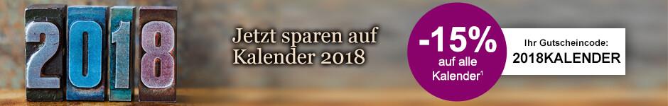 Sichern Sie sich 15% auf alle Kalender 2018