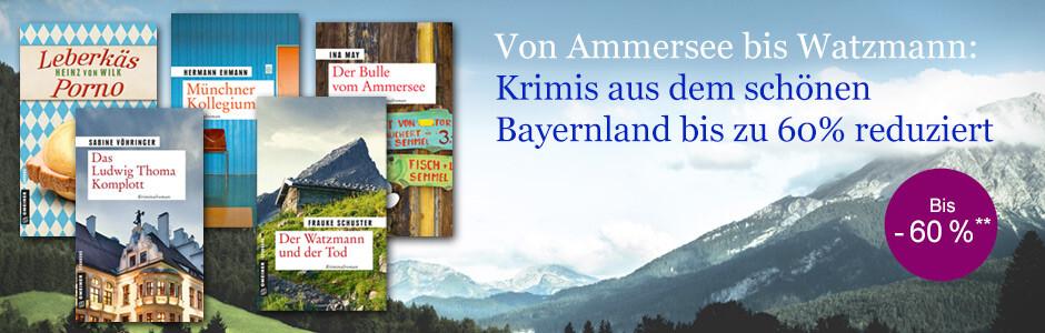 Krimis aus dem schönen Bayernland bis zu 60% reduziert bei eBook.de