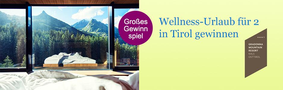 Wellness-Reise für 2 nach Tirol gewinnen