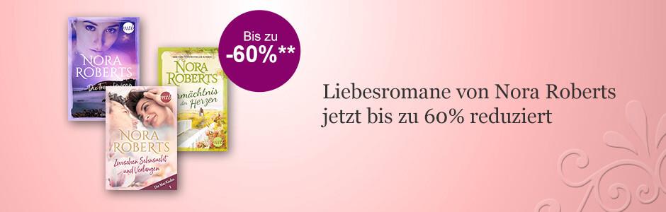 Liebesromane von Nora Roberts zum Aktionspreis bei eBook.de