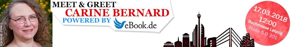 Meet & Greet auf der Leipziger Buchmesse 2018 mit Carine Bernard - powered by eBook.de