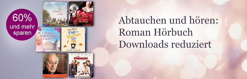 Hörbuch Downloads reduziert: Schöne Romane zum Abtauchen bei eBook.de