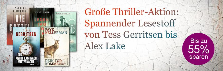 Große Thriller-Aktion: Jetzt bis zu 55% sparen bei eBook.de