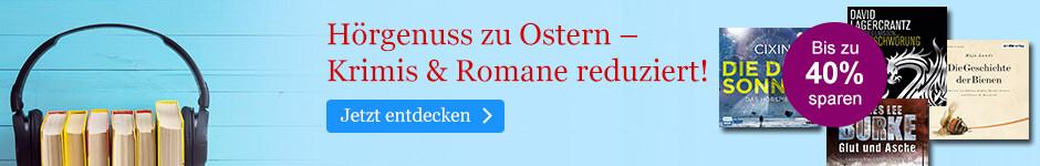 Hörgenuss zu Ostern: Hörbuch Downloads reduziert bei eBook.de