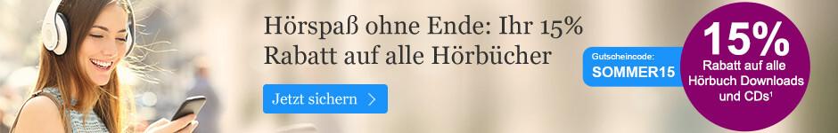 Hörspaß ohne Ende: 15% auf alle Hörbücher bei eBook.de