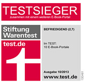 eBook.de bei der Stiftung Warentest Testsieger eBook Portale