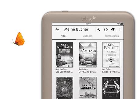 tolino page mit Riesenauswahl an eBooks