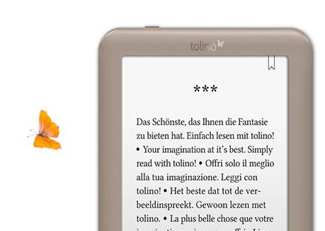 tolino page mit spiegelungsfreiem Display