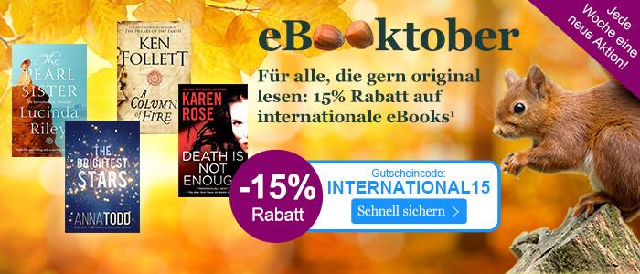 Sparen Sie beim eBooktober 15% auf internationale eBooks!