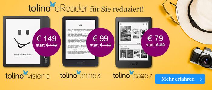 Ihre perfekten Reisebeleiter: tolino eReader bei eBook.de