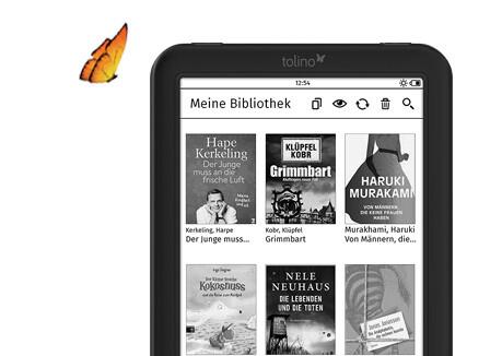 tolino shine 2 HD mit Riesenauswahl an eBooks